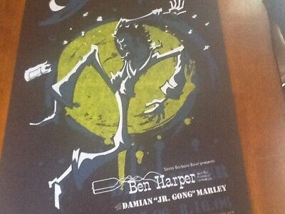 BEN HARPER Poster DAMIAN MARLEY SANTA BARBARA '06 Mint of only 75 printed signed