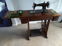 Vintage Sewing Machine with treadle