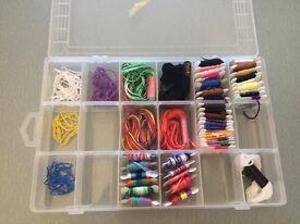 Bracelet string and storage box