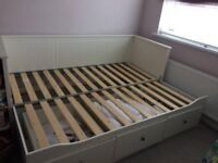 White Ikea HEMNES day bed including 2 mattresses - good condition