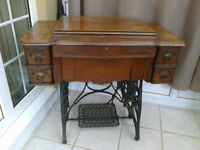 sewing machine treadle table