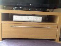 TV unit in light oak veneer