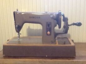 Singer hand operated sewing machine. 1960s, good working condition.