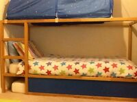 Ikea Kura reversible bed with storage steps, panels to create a den & canopy