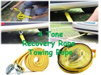 3 / 4 / 5 TON Heavy Duty Tow strap, towing car rope strap 4 Meter recovery strap rope