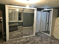 LUXURY FURNITURE CHICAGO SLIDING MIRRROR DOORS WARDROBE IN 6 SIZES & IN 6 COLORS