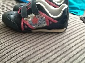 Size 13 1/2 girls flashing lights trainers from clarks