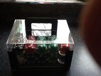 Case of poker chips