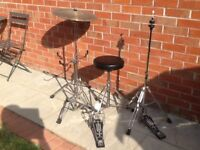 Assorted drum kit spares.