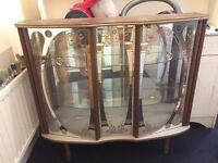 1950'S GLASS DISPLAY CABINET