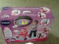 VTECH 3-in-1 LITTLE LOVE PUSHCHAIR,NEW IN UNOPENED BOX. NO OFFERS.