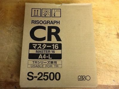 Genuine Riso Risograph Cr Master-16 A4-l S-2500 2 Rolls In A Box  J