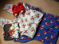 Angry birds clothes bundle good condition £8 approx age 10/12