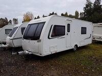 Lunar Clubman SB 4 Caravan FIXED SINGLE BEDS, MOTOR MOVER, AWNING !!
