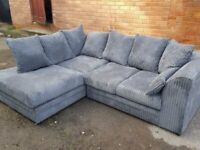 DELIVERY AVAILABLE NEW BYRON JUMBO CORDED CORNER SOFA OR 3+2 SOFA SET AVAILABLE NOW IN STOCK