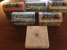Collection Of Six Vintage Chocolate Boxes / Chests Terrys & Sons LTD