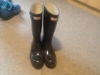 Hunter wellies with bag