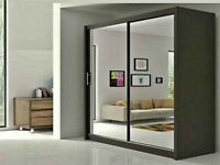 💥💯 BRAND NEW SALE!!CHICAGO SLIDING 2 & 3 MIRRORED DOORS WARDROBES WITH SHELVES, RAILS 💯💥