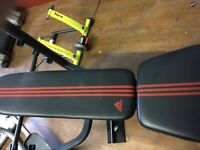 ADIDAS STRENGTH BENCH WITH 45kg BARBELL WEIGHT SET
