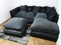 AMAZING OFFER 🍻BRAND NEW Byron Shanile CORNER OR 3 & 2 SEATER SOFA-ORDER NOW