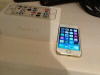 Gold iPhone 5S , 16GB Factory Unlocked + All Apple accessories for sale