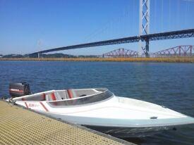 Picton Sunsport 15ft Speedboat, with Mariner 60HP, Electric start & trim/tilt, Snipe road trailer