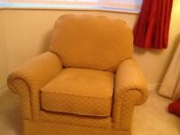 One large sofa one 2 seater sofa and an arm chair