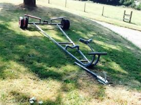 *REDUCED* NEED TO SELL FULLY GALVANIZED BOAT LAUNCHING TRAILER WITH TOW HITCH. EXCELLENT CONDITION