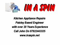 washing machine, tumble dryer, cooker, dishwasher repairs renfrewshire and surrounding areas