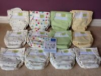 12 Reusable Nappies. Brand New. Infant (4-10kg)