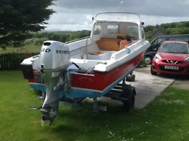 "SEAHOG SHORTY 15'6"" excellent boat well looked after"