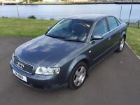 Audi A4 S.E 1.9 TDI 2002 low miles, full mot and 6 months extendable warranty up to 2 years.