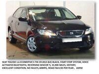 SEAT TOLEDO 1.6 ECOMOTIVE S TDI CR 2013 (63) BLACK, START STOP SYSTEM EXCELLENT CONDITION