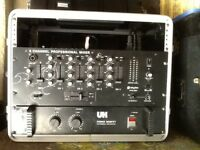 skytec stereo mixer + power amp