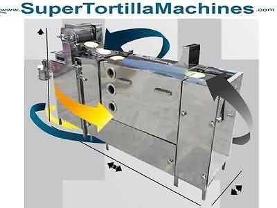 Corn Tortilla Machine Equipment C3000 Up To 1500 Tortillas Per Hour