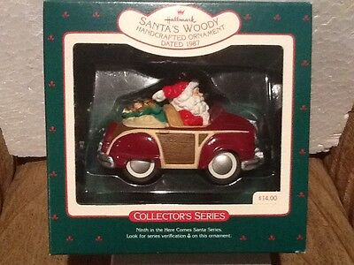 Hallmark Ornament - Santas Woody - #9 in Here Comes Santa - 1987 - QX484-7