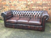 WANTED TO BUY TODAY LEATHER CHESTERFIELD SOFAS AND CHAIRS ANY COLOUR ANY CONDITION CAN COLLECT ££££