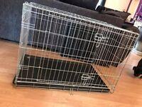 Silver 2 Door Dog Crate