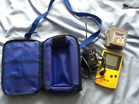 Nintendo Gameboy Color (Yellow) with 8 games, case and AC plug
