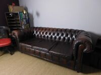 Stunning Conka Leather Chesterfield Sofa Bed
