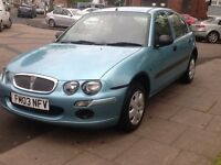 2003 Rover 25l 1.4 Long mot 1 owner 2 X keys BARGAIN!!!!!