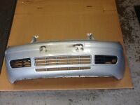 VOLKSWAGEN GOLF MK4 SATIN SILVER FRONT BUMPER WITH GRILLES