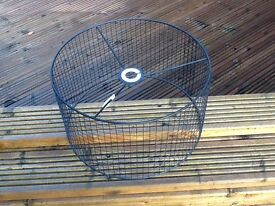 industrial style, black metal cage pendant lamp shade for sale £10.