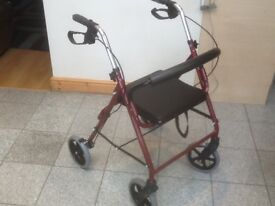 Mobility aide walker-ex showroom display model-foldable,has lever brakes,padded seat-£35