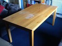Farmhouse Style Kitchen Table pine effect