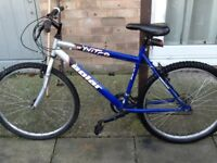 £35 Lovely bike can deliver for petrol 26 wheel19 frame 18 gears all in good condition