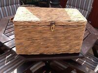 Rattan storage basket large