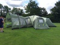 Hartford XXL - 12 man tent including extension porch