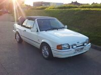 Ford Escort XR3i convertible, very low milage 49,500 miles