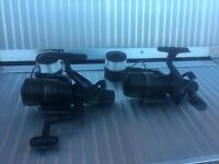 2 X CLASSIC SHIMANO AERO BAITRUNNER REELS - JUST HAD £18 SERVICE EACH BY SHIMANO - JUST £70 LooooooK